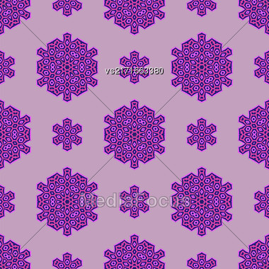 Creative Ornamental Seamless Pink Pattern. Geometric Decorative Background Stock Photo