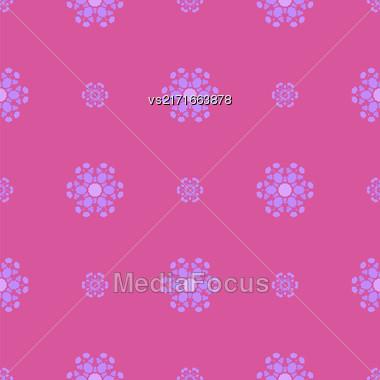 Creative Ornamental Seamless Pink Pattern. Geometric Decorative Background Stock Photo