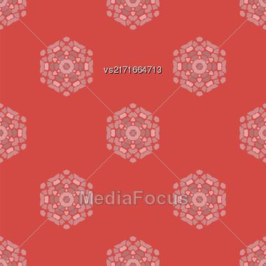 Creative Ornamental Seamless Red Pattern. Geometric Decorative Background Stock Photo