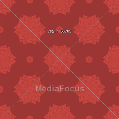 Creative Ornamental Seamless Red Pattern. Geometric Decorative Background Stock Photo