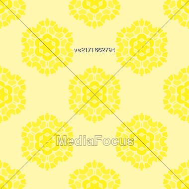 Creative Ornamental Seamless Yellow Pattern. Geometric Decorative Background Stock Photo