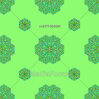 Creative Seamless Ornamental Mosaic Pattern. Geometric Decorative Background Stock Photo