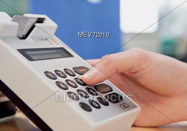 Credit Card Transactions Keypad Stock Photo
