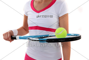 Cropped Female Tennis Player Stock Photo