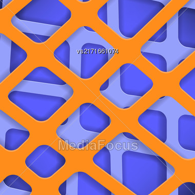 Crossed Lines Abstract Blue And Orange Cover Background Stock Photo