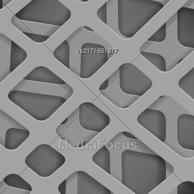 Crossed Lines Abstract Grey Cover Background. Grey Pattern Stock Photo