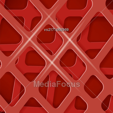 Crossed Lines Abstract Red Cover Background. Red Pattern Stock Photo