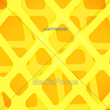 Crossed Lines Abstract Yellow Cover Background. Yellow Pattern Stock Photo