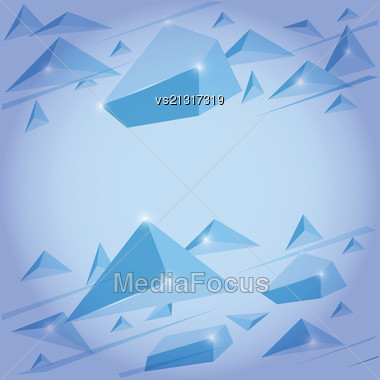 Crystal Background For Your Design Stock Photo
