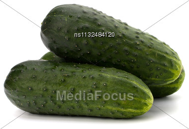 Cucumber Isolated On White Background Close Up Stock Photo