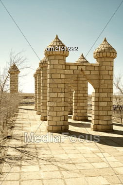 Cult Complex Of Monuments Located On The Territory Of Mangistau Region Stock Photo