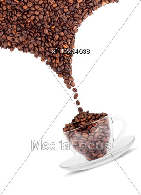 Cup Of Coffee With Seed Stock Photo