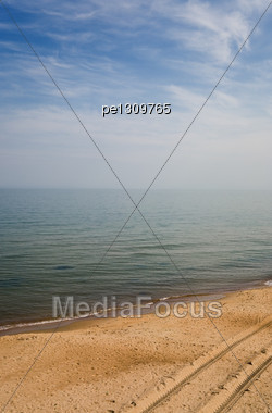 Curonian Spit. Coast Of Baltic Sea Stock Photo