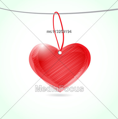 Cute Vector Background With Vintage Hearts Stock Photo