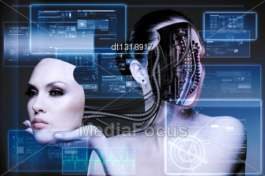 CyberFashion. Abstract Techno Backgrounds Stock Photo