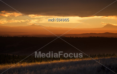 Cypress Hills Alberta Saskatchewan In The Hills Alberta Stock Photo