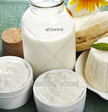 Dairy Products,Close Up Shot Stock Photo