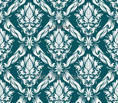Free Seamless Damask Pattern