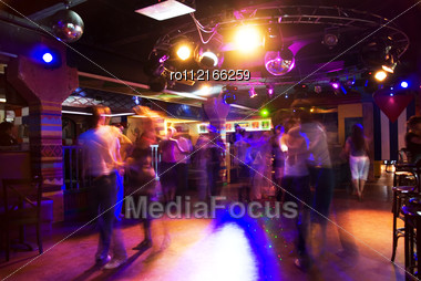 Dancing People In An Underground Club Stock Photo