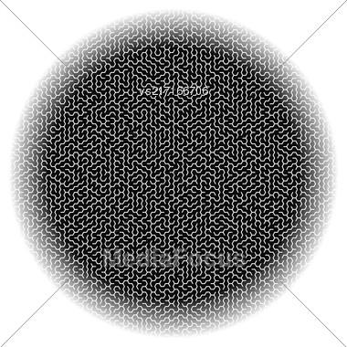 Dark Circle Kids Maze Isolared On White Background Stock Photo