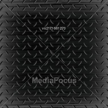 Dark Iron Background. Dark Shine Metal Pattern Stock Photo