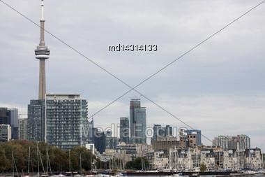 Daytime Photos Of Toronto Ontario Buildings Downtown Stock Photo