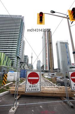 Daytime Photos Of Toronto Ontario Buildings Downtown Construction Stock Photo