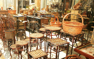 Decorative bamboo furniture outdoor shop in cyprus stock photo ra1133976 - Garden furniture cyprus ...