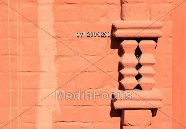 Decorative Element On Brick Wall Stock Photo