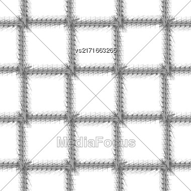 Decorative Grey Frame Seamless Pattern On White Background Stock Photo