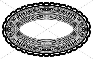 Decorative Oval Frame Isolated On White Background Stock Photo