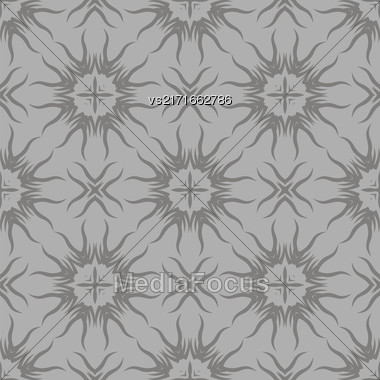Decorative Retro Seamless Pattern. Ornamental Grey Background Stock Photo