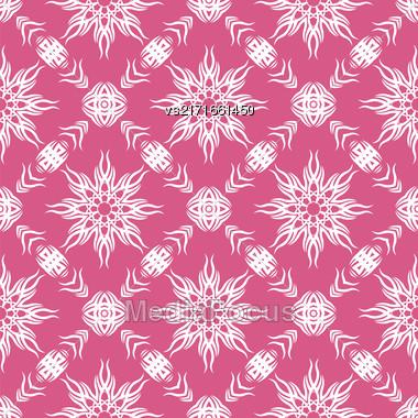Decorative Retro Seamless Pattern. Ornamental Pink Background Stock Photo
