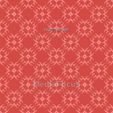 Decorative Retro Seamless Pattern. Ornamental Red Background Stock Photo