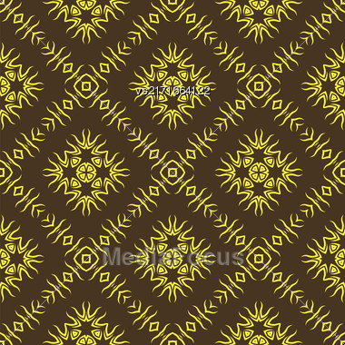 Decorative Retro Seamless Pattern. Ornamental Wallpaper Background Stock Photo