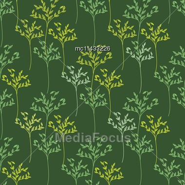 Decorative Trees Seamless Pattern. Vector Illustration For Design Of Gift Packs, Wrap, Patterns Fabric, Wallpaper, Web Sites And Other Stock Photo