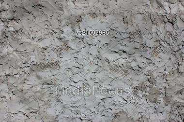 Decorative Wall Stucco Texture At Sun Light Stock Photo