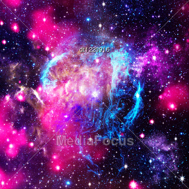 Deep Space. Abstract Natural Backgrounds Stock Photo