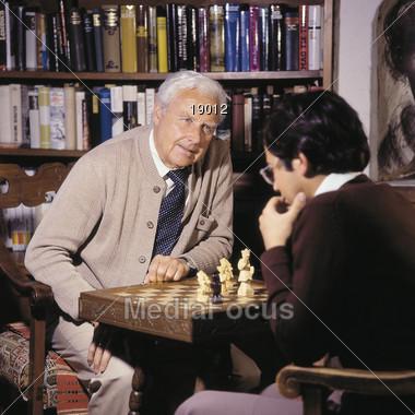 Deep Thinking Chess Game Stock Photo