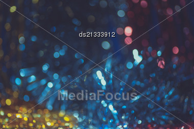 Defocused Decorations Christmas Bokeh Background Stock Photo