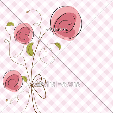 Delicate Floral Background In Vector Format Stock Photo