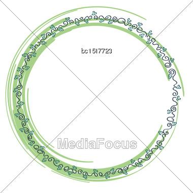 Delicate Floral Frame, Illustrator Format Eps10 Stock Photo