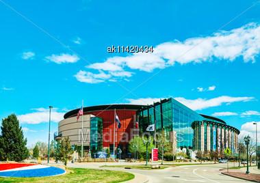 DENVER - April 30, 2014: Pepsi Center On April 30, 2014 In Denver, Colorado. It's A Multi-purpose Arena In Denver, Colorado, United States And Named For Its Chief Corporate Sponsor, PepsiCo Stock Photo