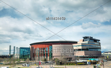DENVER - April 30, 2014: Pepsi Center On April 30, 2014 In Denver, Colorado. It's A Multi-purpose Arena In Denver, Colorado, United States And Named For Its Chief Corporate Sponsor, PepsiCo Stock Photo