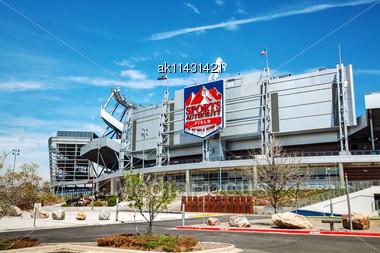 DENVER - April 30, 2014: Sports Authority Field At Mile High In Denver On April 30, 2014 In Denver, Colorado. It's A Multi-purpose Arena In Denver, Colorado, United States Stock Photo