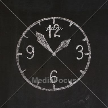 Dial With Digits, Minute-hand And Hour-hand Stock Photo