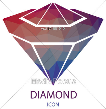 Diamond Icon. Diamond Logo Isolated On White Background Stock Photo