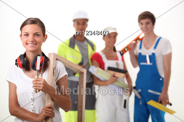 Different Trades Stock Photo