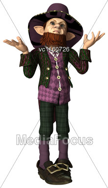 Digital Render Of A Leprechaun Isolated On White Background Stock Photo
