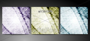 Dim Backgrounds With Different Texture. Eps 10 Stock Photo